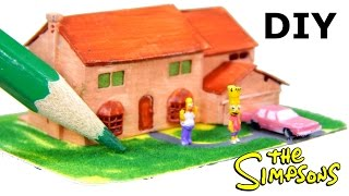 How to make DIY Simpsons dollhouse miniatures. Video tutorial for crafted mini house Simps family
