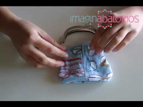 Como realizar un monedero de boquilla costura youtube - Hacer password manualidades ...
