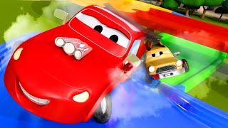 Đội xây dựng - Bố trí đường đua dành cho các xe hơi nhí