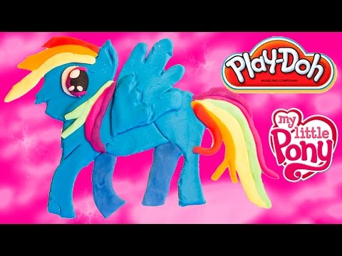 Play Doh My Little Pony Rainbow Dash Playdough Rainbow Dash DIY MLP Mi Pequeño Pony