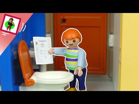 "Playmobil Film ""Zeugnis ins Klo"" Familie Jansen / Kinderfilm / Kinderserie"