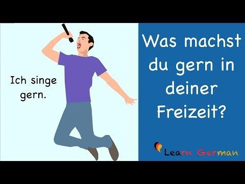 Learn German   German Speaking   Was machst du gern in deiner Freizeit?   Sprechen - A1   A2
