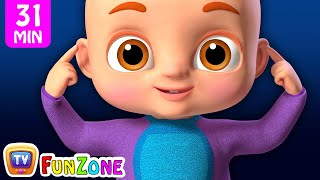Head, Shoulders, Knees & Toes Exercise Song plus More Nursery Rhymes & Kids Songs - ChuChuTV Funzone