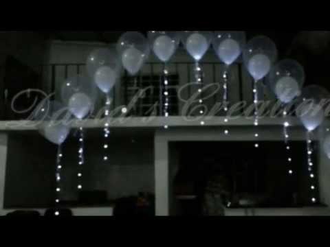 Decoracion para boda bautizo decoraciones con globos youtube Decoracion con bombas para bautizo
