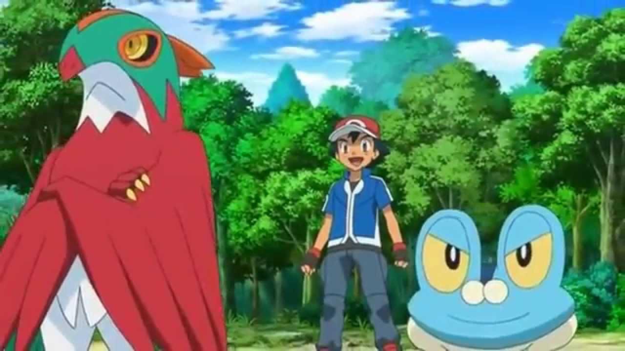 Pokémon XY - Ash vs Clemont (Pikachu vs Bunnelby) - YouTube