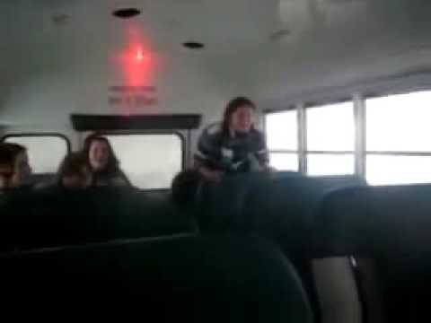 Girl Hits Head On Bus