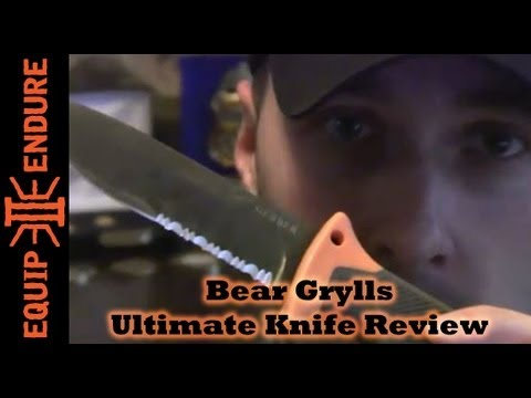 Bear Grylls Gerber Ultimate Knife Review, Equip 2 Endure