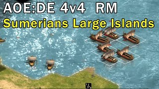 Age of Empires: Definitive Edition - 2v2 RM Gameplay Big Islands Sumerians - eartahhj - 03/03/2018