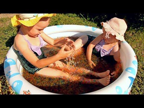 БАССЕЙН С Шариками Орбиз ORBEEZ выращиваем и купаемся Развлечения для детей  Pool with Orbeez