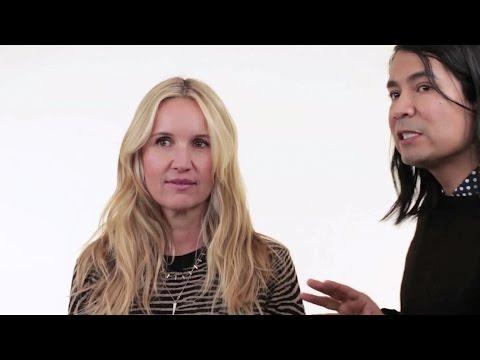 Celebrity Hair Stylist Cervando Maldonado does Beach Hair on Monika Blunder