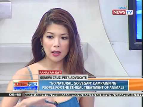 News to Go - Howie Severino interviews vegan advocate Geneva Cruz 4/12/11