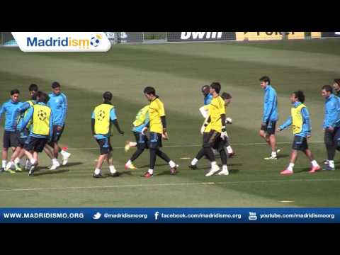 Real Madrid Training Session Ahead of Bayern Munich Champions League Clash