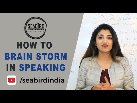 How to Brain Storm in Speaking   IELTS Updates