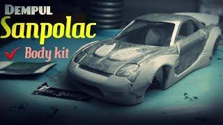 "Hot wheels custom mazda rx7 (bikin wide body pakai dempul ""sanpolac"")"