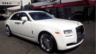 "Ice T 2011 Rolls Royce Ghost White on White 22"" CEC Wheels"