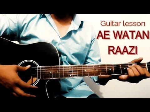 Download Lagu  AE Watan || Raazi || Arijit Singh || Guitar Cover  || Easy guitar lesson chords and strumming for Mp3 Free