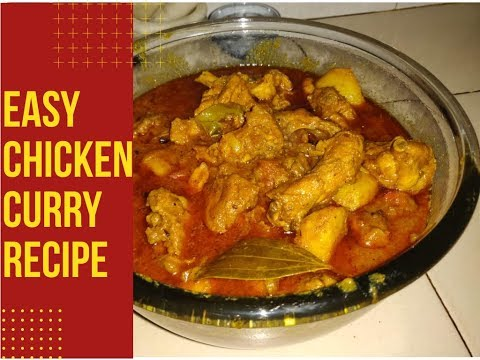 Indian Chicken Curry Beginners Recipe | Chicken Curry Recipe| Easy Recipe for Bachelors