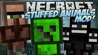 Minecraft | STUFFED ANIMALS MOD (Lucky Presents & Trayaurus Plushies!) | Mod Showcase