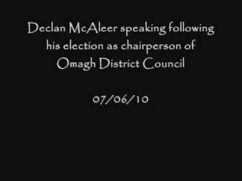 Declan McAleer is interviewed following his election as first citizen of Omagh.