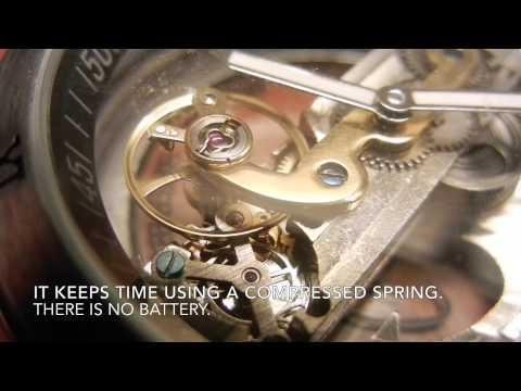 Self-Winding Mechanical Skeleton Watch