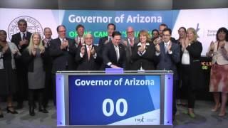 Governor of Arizona opens Toronto Stock Exchange, October 6, 2016