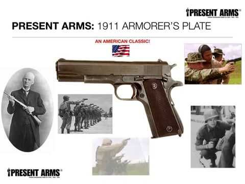 Present Arms 1911 Armorer Plate and Fixture Block