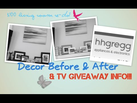 $100 Living Room Redo | Mantel & New Rug + TV Giveaway Info!!