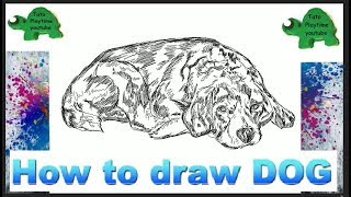 How to draw Dog Puppy Beagle Step by Step for Kids Learn Drawing Easy