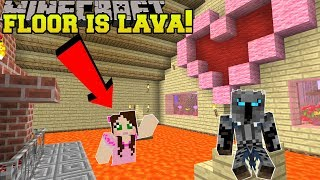 Minecraft: THE FLOOR IS LAVA!!! - GAME HUB - Mini-Game