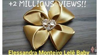 DIY:Flor de Cetim!!🌹🌹|Elessandra Monteiro Lelê Baby V:51