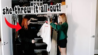 Best Friend Cleans My Closet... She Threw Out EVERYTHING!