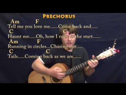 The Scientist (Coldplay) Strum Guitar Cover Lesson in Am with Chords/Lyrics