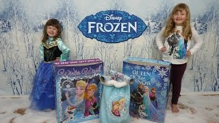 Disney Frozen Giant Surprise Bags Frozen Christmas Tree + Snowball fight Elsa + Anna