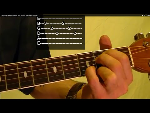 Breathe ( The Dark Side Of The Moon ) By PINK FLOYD - Guitar Lesson - David Gilmour