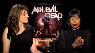Lucy Lawless and Jill Marie Jones Talk Ash vs Evil Dead