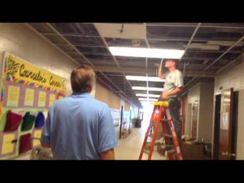 Memorial Park Middle School in Fort Wayne construction tour