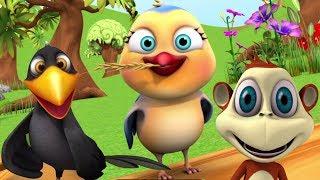 Chu Chu Karti Aayi Chidiya   चू चू करती आई चिड़िया   Little Treehouse India   Hindi Nursery Rhymes