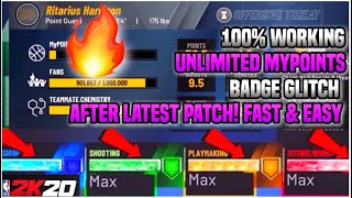 NBA 2K20 MAX BADGE + MYPOINTS GLITCH *VC GLITCH!* AFTER PATCH PS4 & XBOX & PC! (2K20 Badge Glitch)
