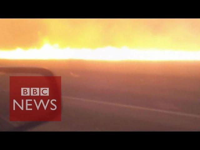 Australian man films his escapes from a bushfire - BBC News