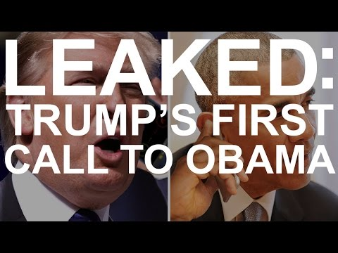 LEAKED: Trump's first call to Obama