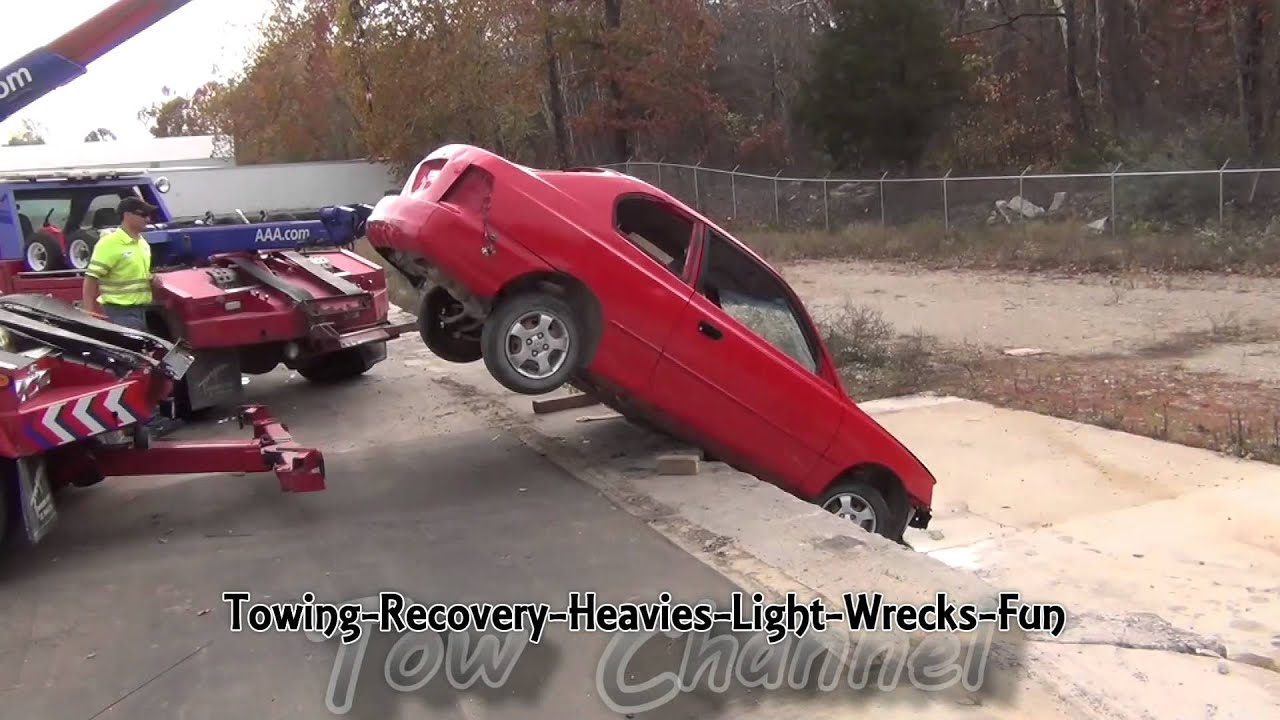Seat Belt Accident Recovery Two Tow Trucks Recover A