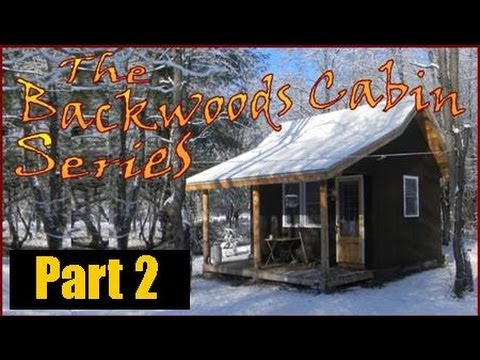 Backwoods cabin series.  My off grid cabin in winter.