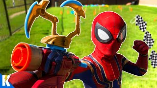 Iron SPIDER-MAN NINJA Obby and Avengers Super Hero Gear Test! | KIDCITY