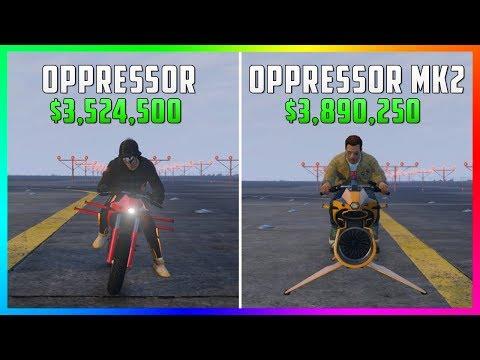 GTA 5 Online - Oppressor MK2 Vs Oppressor ($3,890,250 Vs $3,524,500)