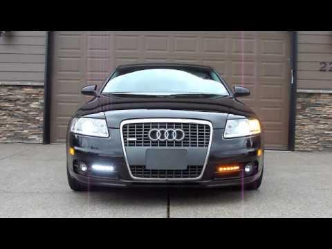 2006 Audi A6 DRL LED Switchback Turn Signal Lights - YouTube