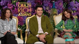 CRAZY RICH ASIANS: Interviews with CONSTANCE WU, HENRY GOLDING, & MICHELLE YEOH