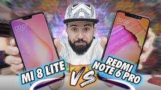 Xiaomi MI 8 LITE vs REDMI NOTE 6 PRO Qual comprar?? - COMPARATIVO COMPLETO