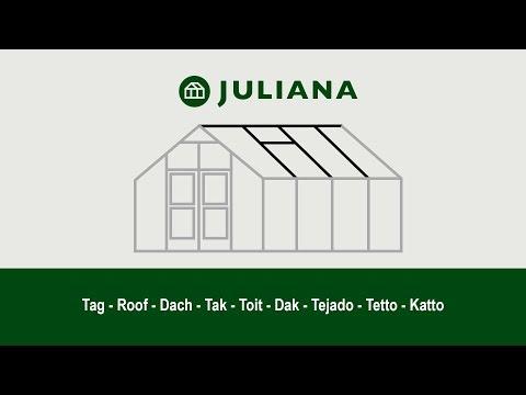 Montage af tag i Juliana-drivhus