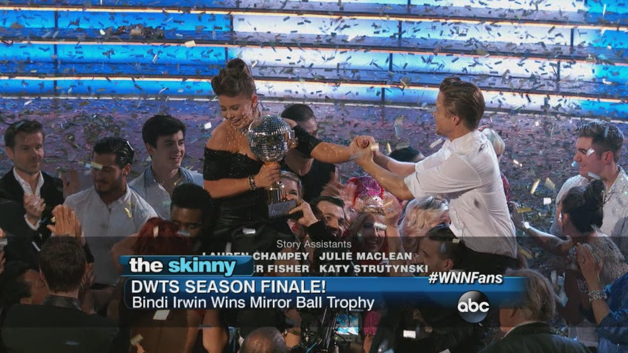 Bindi Takes the Mirror Ball Trophy | ABC News
