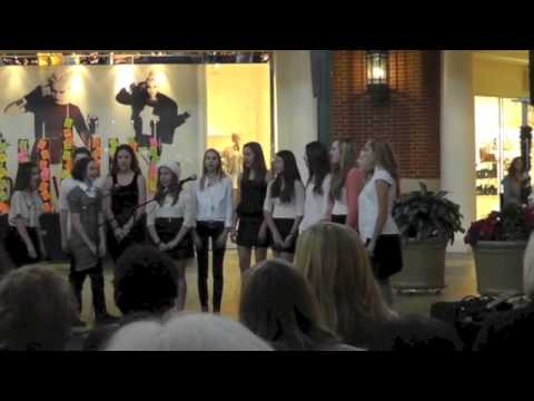 Whitefish Bay, WI Middle School Bell Tones Girls at Bayshore Town Center on Dec 17, 2012